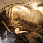Digging out vaulted cellar