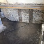 New floor into excavated wing